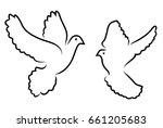 vector illustration of doves... | Shutterstock .eps vector #661205683