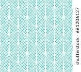 vector turquoise dot pattern.... | Shutterstock .eps vector #661206127