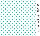 vector turquoise dot pattern.... | Shutterstock .eps vector #661206133