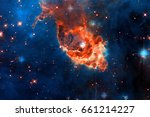Small photo of Carina Nebula in outer space. Elements of this Image Furnished by NASA