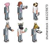 Six Businessmen With Animals...
