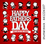 happy father's day card design... | Shutterstock .eps vector #661226107