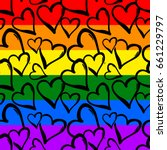 gay pride rainbow colored... | Shutterstock .eps vector #661229797