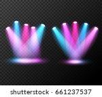set of spotlight disco. scene... | Shutterstock .eps vector #661237537
