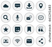 social icons set. collection of ... | Shutterstock .eps vector #661241683