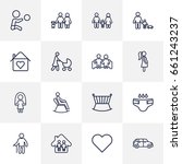 set of 16 people outline icons... | Shutterstock .eps vector #661243237