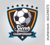 soccer logo  football badge... | Shutterstock .eps vector #661248373