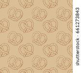 pretzels hand drawing vector | Shutterstock .eps vector #661273843