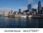 seattle  wa  25 feb 2017  view... | Shutterstock . vector #661275697