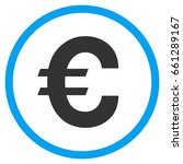 euro symbol rounded icon.... | Shutterstock . vector #661289167