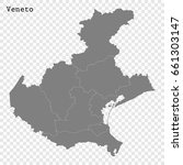 high quality map of veneto is a ... | Shutterstock .eps vector #661303147