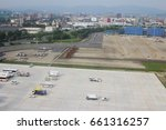 the fukuoka airport   runway at ... | Shutterstock . vector #661316257