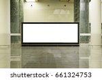 blank mock up of horizontal... | Shutterstock . vector #661324753