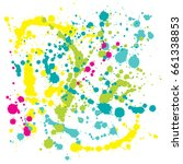 ink vector splats  colorful... | Shutterstock .eps vector #661338853