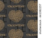 valentine's day  the human... | Shutterstock .eps vector #661382257