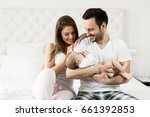 view at happy family with...   Shutterstock . vector #661392853