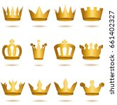 crown collection  | Shutterstock .eps vector #661402327