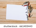 wire  screw and empty sheet of... | Shutterstock . vector #661403443