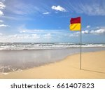 a red and yellow life saving... | Shutterstock . vector #661407823