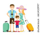 people family vacation flat... | Shutterstock .eps vector #661410997