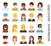 people flat icons design | Shutterstock .eps vector #661411003