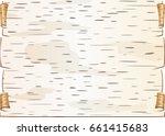 blank piece of birch bark... | Shutterstock .eps vector #661415683