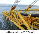 descent of the pipeline to a... | Shutterstock . vector #661422577