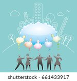 cloud thought connection | Shutterstock .eps vector #661433917