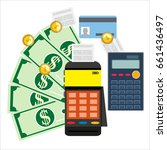 calculation concept.... | Shutterstock . vector #661436497