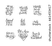 vector set of  handwritten set... | Shutterstock .eps vector #661453417