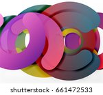 circle geometric abstract... | Shutterstock . vector #661472533