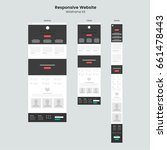 responsive website wireframe... | Shutterstock .eps vector #661478443