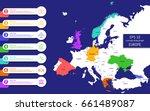 flat high detailed europe map.... | Shutterstock .eps vector #661489087