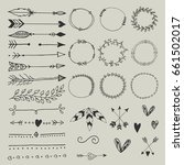 collection of hand drawn...   Shutterstock .eps vector #661502017