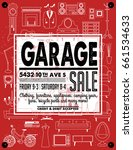 garage or yard sale with signs  ... | Shutterstock .eps vector #661534633