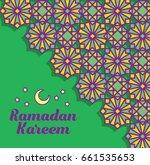 islamic pattern greeting card...   Shutterstock .eps vector #661535653