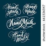 hand made hand written... | Shutterstock .eps vector #661536547
