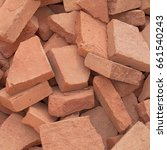 red clay brick made on an old... | Shutterstock . vector #661540243