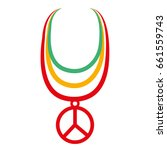 Necklace With Peace Symbol...