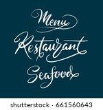 menu restaurant hand written... | Shutterstock .eps vector #661560643