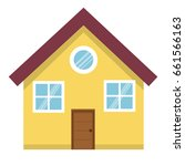 exterior house isolated icon | Shutterstock .eps vector #661566163