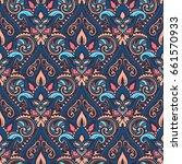 vector damask seamless pattern | Shutterstock .eps vector #661570933