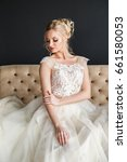beautiful girl in wedding dress ... | Shutterstock . vector #661580053