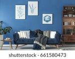 stylish room with elegant retro ... | Shutterstock . vector #661580473