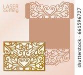 die laser cut wedding card... | Shutterstock .eps vector #661596727