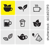 tea icons | Shutterstock .eps vector #661601593