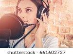 caucasian girl in her 20s in... | Shutterstock . vector #661602727
