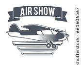 air plane emblems vector labels | Shutterstock .eps vector #661606567