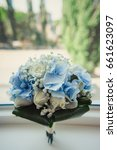 the bride's bouquet | Shutterstock . vector #661623097