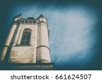 part of the church against a... | Shutterstock . vector #661624507